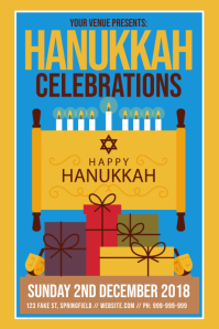 Hanukkah Celebration Poster Iphosta template
