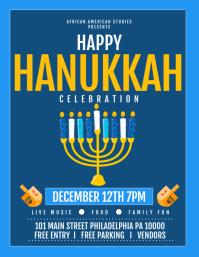 hanukkah Flyer (US Letter) template