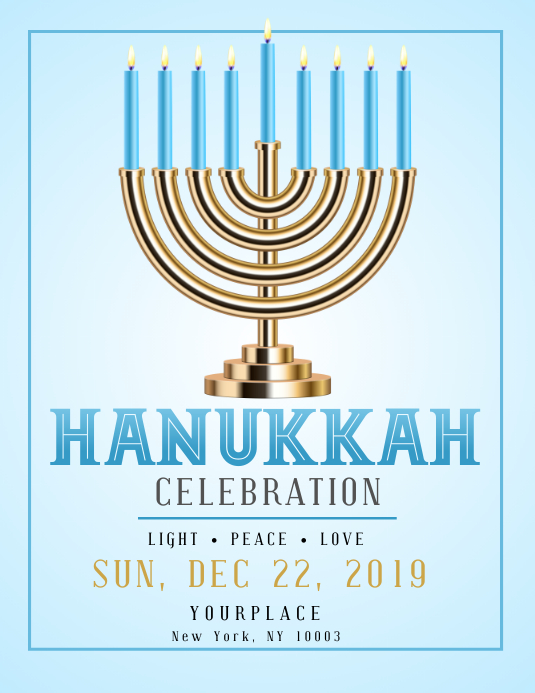 hanukkah, shabbat, hanukah, chanukha, kwanzaa Flyer (US Letter) template