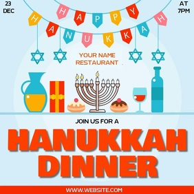 HANUKKAH DINNER SOCIAL MEDIA TEMPLATE Logo