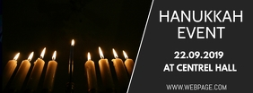 Hanukkah event facebook cover template