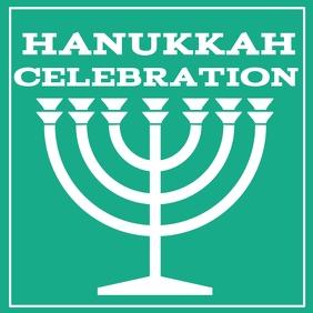 Hanukkah event flyer templat