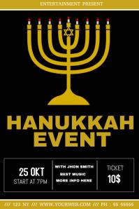 Hanukkah event flyer template