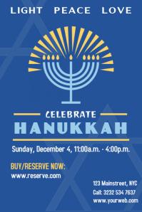 Hanukkah event poster template