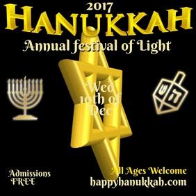 Hanukkah Festival Template
