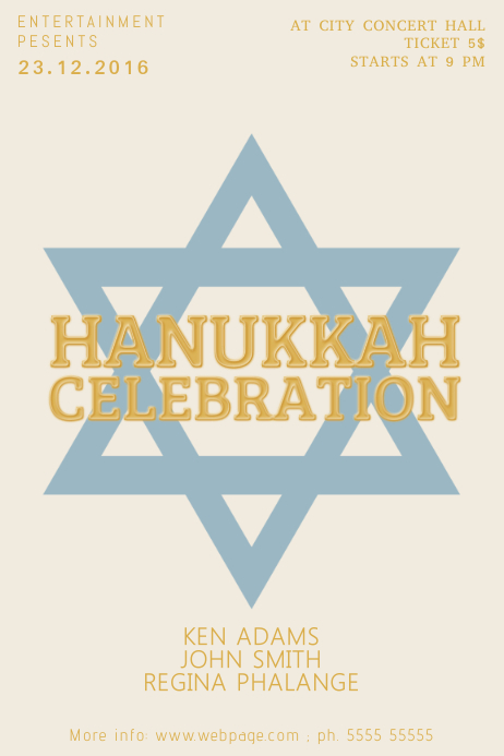 Hanukkah Flyer Template