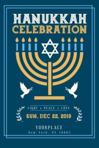 hanukkah, shabbat, hanukah, chanukha, kwanzaa flyer template Poster