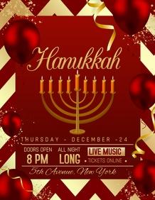 Hanukkah flyers,event flyers,party flyers