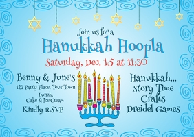 Hanukkah Kid's Party Invitation