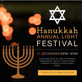 Hanukkah Lights Event Video Advert
