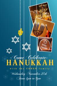 Hanukkah Poster Template