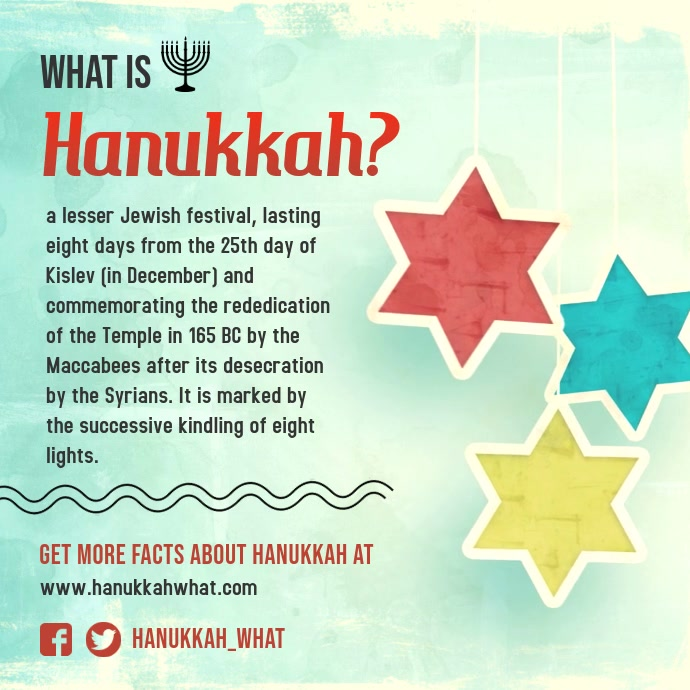 Hanukkah Principles Square Ad