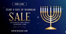 HANUKKAH SALE AD SOCIAL MEDIA VIDEO Obraz udostępniany na Facebooku template