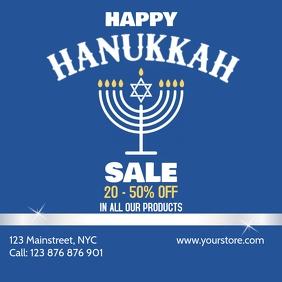 Hanukkah Sale instagram post template
