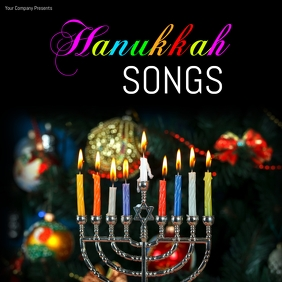 hanukkah13 Cover ng Album template
