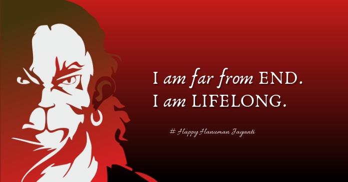 Hanuman Jayanti Image partagée Facebook template