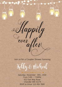 Happily ever after party invitation