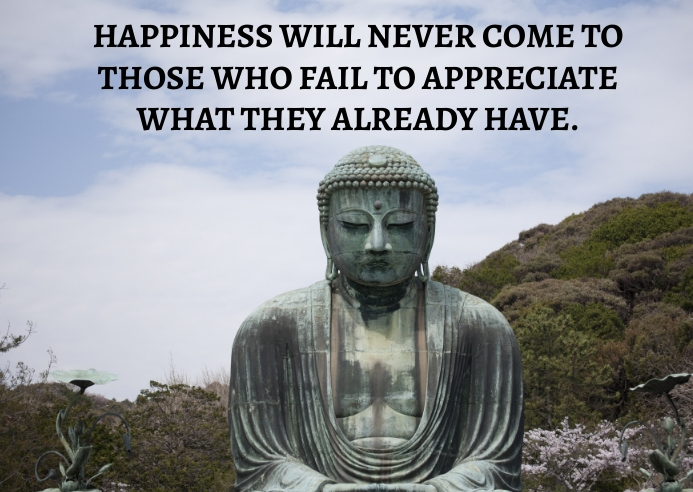 HAPPINESS AND APPRECIATE QUOTE TEMPLATE A6