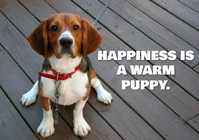 HAPPINESS AND PUPPY QUOTE TEMPLATE A1