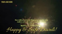 Happy & Safe Diwali Digitalanzeige (16:9) template