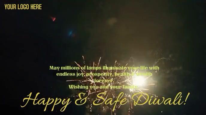 Happy & Safe Diwali Digital Display (16:9) template