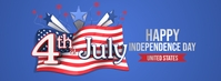 Happy 4th July Independence Day Foto Sampul Facebook template