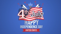 Happy 4th July Independence Day of USA Pos Twitter template
