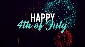 Happy 4th of July Digital Display (16:9) template