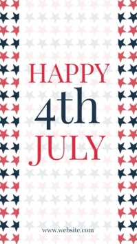 Happy 4th of july Instagram Story template