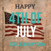 Happy 4th of july Instagram-Beitrag template