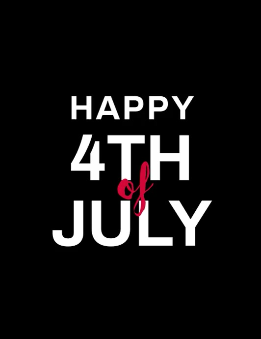 happy 4th of july fireworks video Pamflet (Letter AS) template