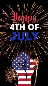 Happy 4th of July Independence Day Ad story Instagram-verhaal template
