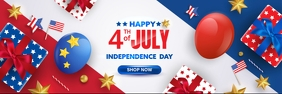 happy 4th of july shop now Banner 2 × 6 template