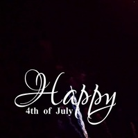 Happy 4th of July Video Greeting Publicação no Instagram template