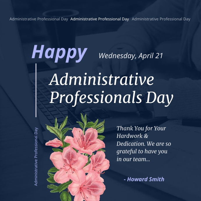 Happy Administrative Professionals Day Instag Instagram Post template