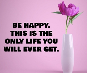 HAPPY AND LIFE QUOTE TEMPLATE Großes Rechteck