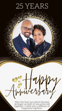 HAPPY ANNIVERSARY GREETING CARD template Instagram Story