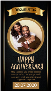 happy anniversary instagram Story Template