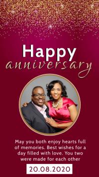 happy anniversary instagram story Template