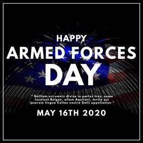 happy armed forces day america Instagram Post template