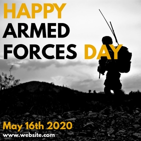 happy armed forces day Instagram 帖子 template