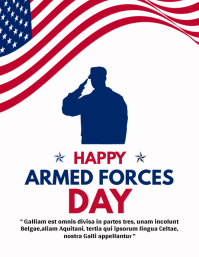 happy armed forces day design template advert 传单(美国信函)