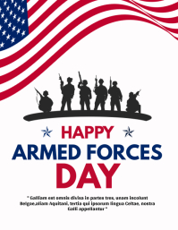 happy armed forces day flyer design template Folheto (US Letter)