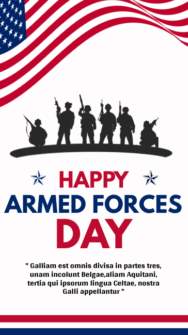 happy armed forces day whatsapp status design template