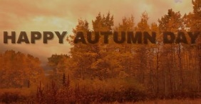 HAPPY AUTUMN DAY TEMPLATE Facebook-Anzeige