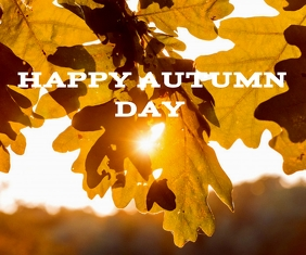 HAPPY AUTUMN DAY TEMPLATE Persegi Panjang Sedang