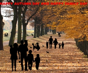 HAPPY AUTUMN DAY TEMPLATE Large Rectangle