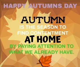 HAPPY AUTUMN SEASON QUOTE TEMPLATE Grote rechthoek