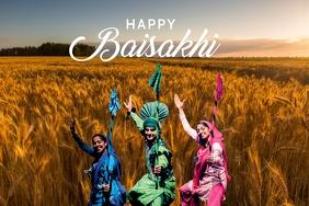 Happy Baisakhi Poster Template