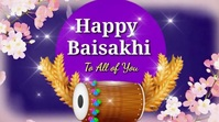 Happy Baisakhi wishes Video Digitale display (16:9) template